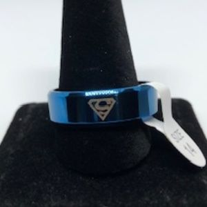 Other - Blue Stainless Steel Superman Logo Ring